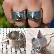 Zinc Alloy Self-defense Product Self Defense Shocker Weapons Ring Can Be Used As Keychain And Necklace(China (Mainland))