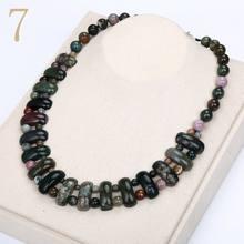 Yumten kobiety duży naszyjnik w stylu Vintage mężczyzna moc klejnot kamień naturalny biżuteria etniczna oświadczenie kobiet akcesoria mody Reiki wisiorek(China)
