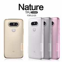 NILLKIN Ultra Thin Transparent Nature TPU Case For LG G5 , S Line Clear TPU Soft Back cover For LG G5 with Retail package(China (Mainland))