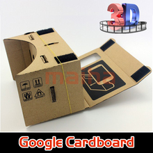 "New Arrival DIY Google Cardboard Virtual Reality VR Mobile Phone 3D Viewing Glasses for 5.0"" Screen Google VR 3D Glasses(China (Mainland))"