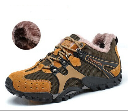2014 new winter sports casual outdoor genuine leather men flats shoes Sneakers warm fur male boots size 45 46 - China fashion clothing EXport LTD store