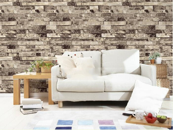 9 color 3d wall paper modern pvc wallpaper stone stacked