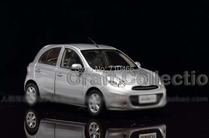 Silver 1:18 Nissan Micra MARCH Hatchback Alloy Model Brinquedos Diecast Model Mini Car  Toys