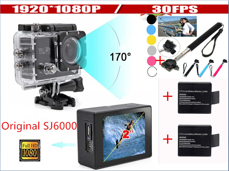 New 2015 sj6000 Wifi Sport Action camera full HD 1080P 30M Waterproof 2 inch LCD 140 Wide Angle Go pro Hero 3 style wifi(China (Mainland))