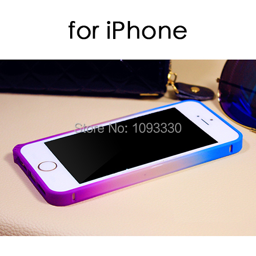2015 iPhone 5S 5 5g 4 4s 6 6Plus Gradient Bumper Luxury Colorful Galaxy PC Frame Protective Shell Cover Case - Little River Mobile Phone Accessories store