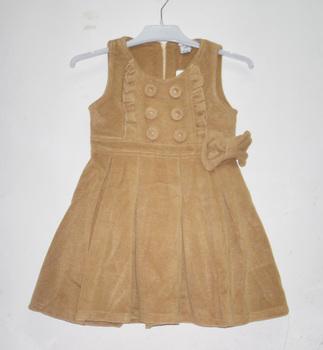 Place children's clothing female woolen wool woolen tank dress one-piece dress autumn and winter 90 - 130