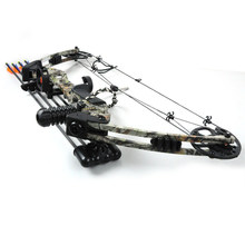 Dream Camo hunting compound bow bow and arrow archery set China Archery Black and Camouflage