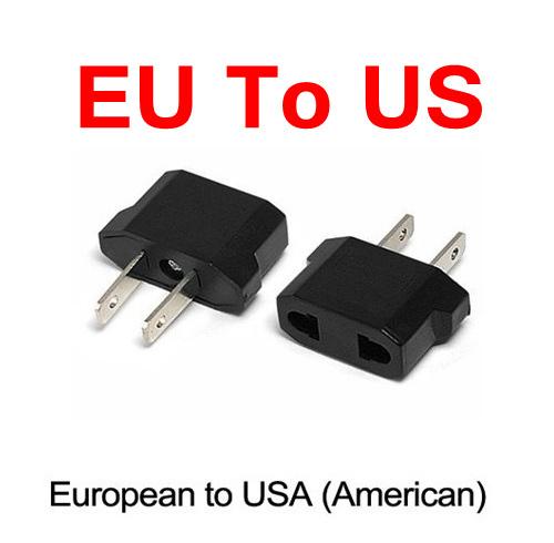 300 Pcs/lot Universal USA Travel Charger Adaptador 2 Pins AC Power Electrical Plug Converter EU To US Plug Adapter Socket(China (Mainland))