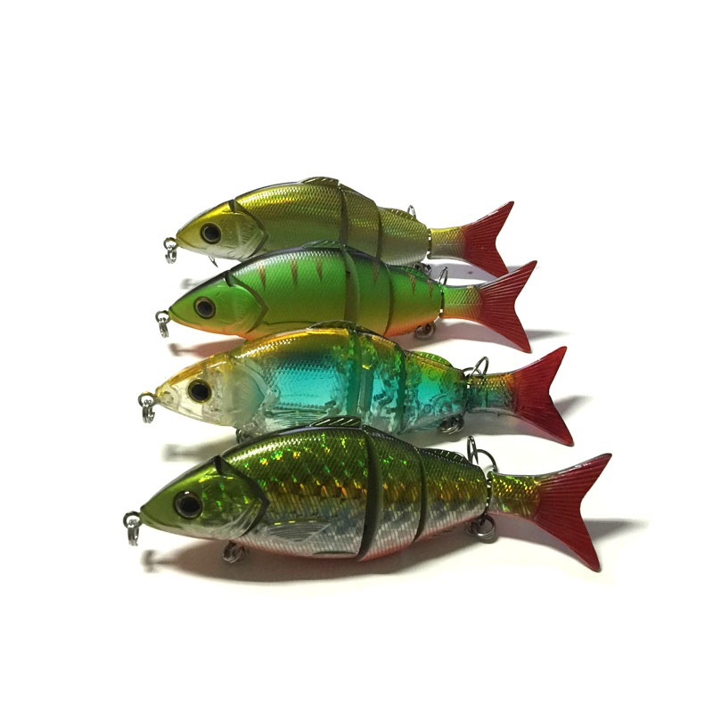 MIZUGIWA 3D Eyes Fishing Lure Four Sections Jointed Sea Fishing Plastic Hard Lures Bait 125mm 20g Bass Lure Fishing Tackle<br><br>Aliexpress