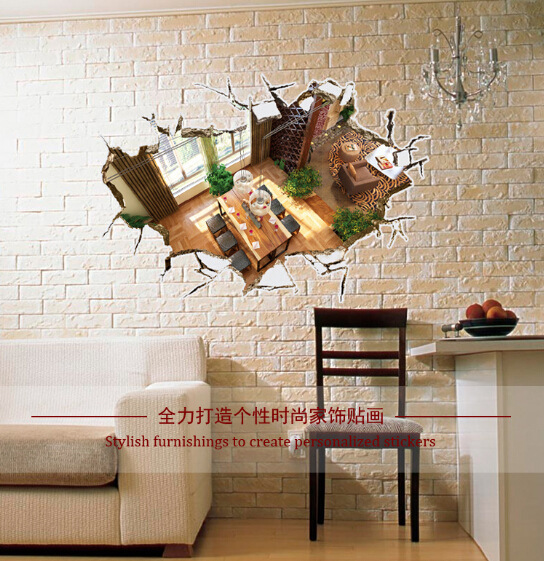 Manufacturers selling 3D decorative wall household personality of foreign trade wall stick Can remove the wall stickers