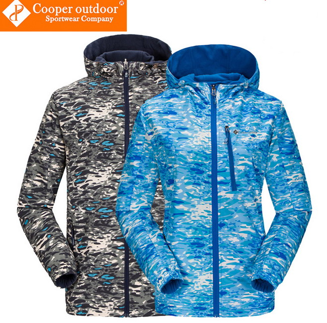 Softshell Jacket Men And Women Camouflage Outdoor Jacket Both Sides To Wear Fleece Thin Coat Outdoor Climbing Skiing Fishing Etc<br><br>Aliexpress