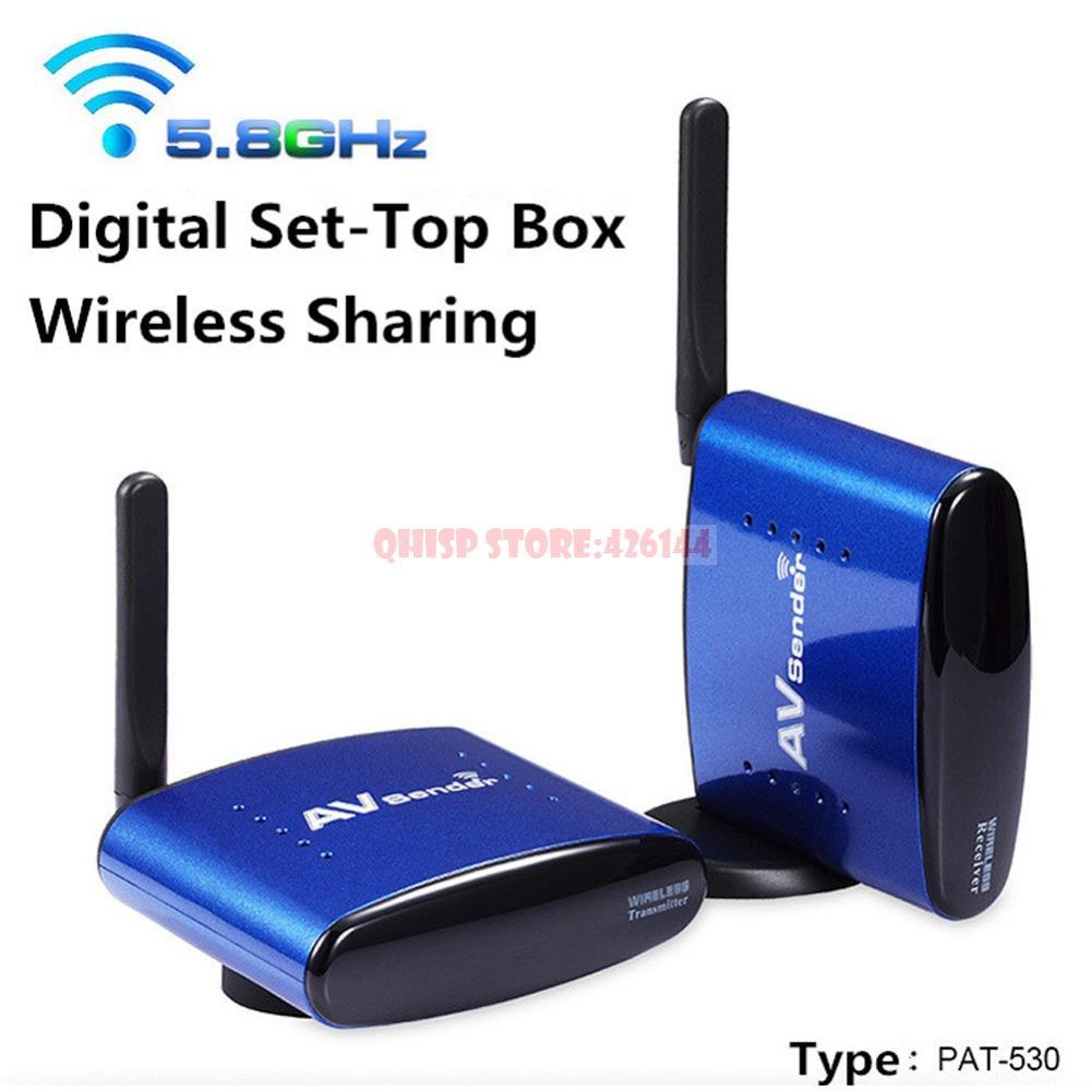 PAT-530 5.8G Wireless AV TV Audio Video Sender Transmitter Receiver IR Remote for IPTV DVD STB DVR Brazil(China (Mainland))