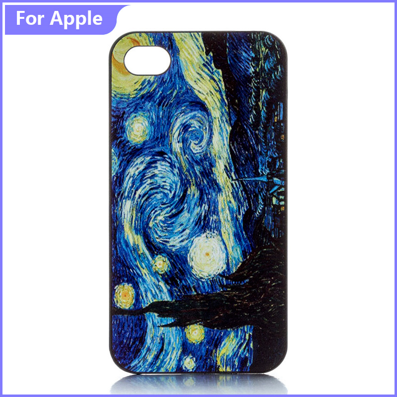 Classic Patter Phone Case iPhone 5 5S SE 6 6S Van Gogh Starry Night Printed Hard Plastic Protective Cover - FashionPhoneCase store