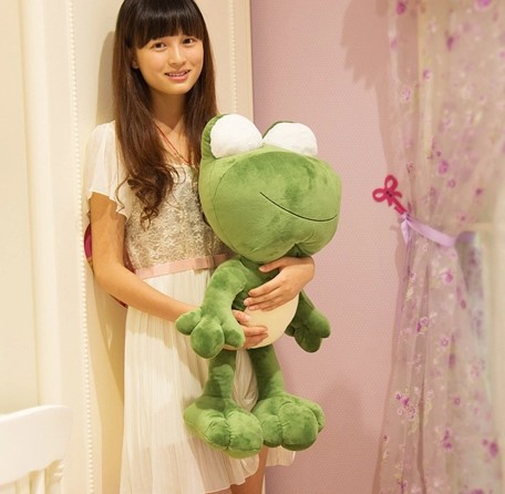 Free shipping 70cm special cute cuddly frog prince plush animal decoration doll soft hold pillow stuffed toy birthday gift 1 pc<br><br>Aliexpress