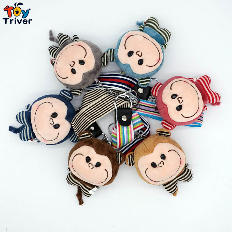 Fragrance cute monkey doll mobile phone Automobile key chain pendant accessories plush toys wholesale gift Triver Toy(China (Mainland))