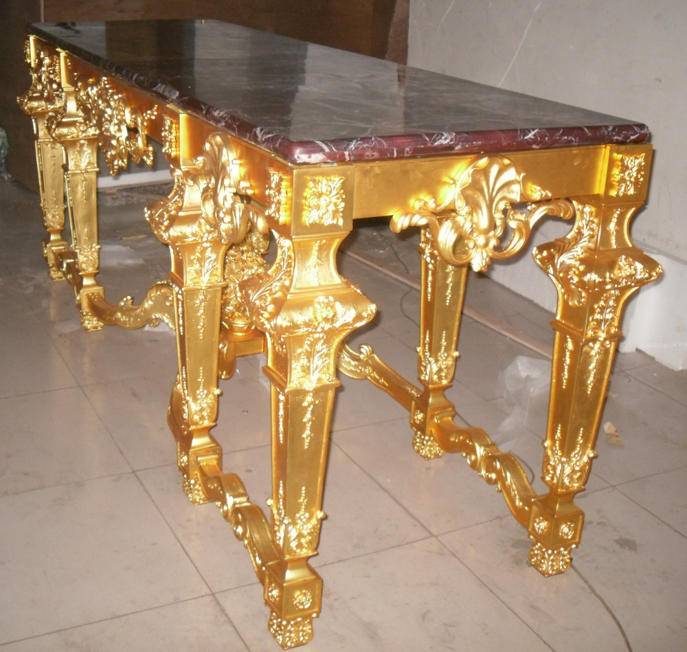 Antique Luxury Brass Table Marble Top Home Furniture Gold