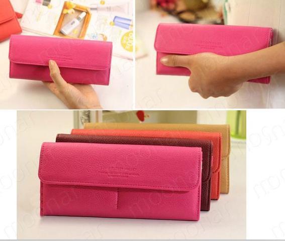 clutch long purse lady leather wallet