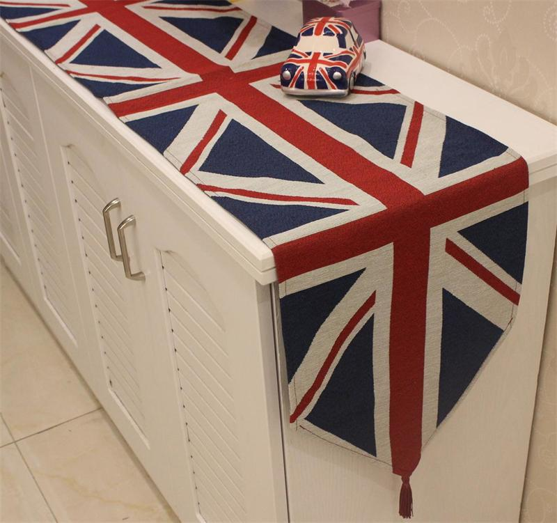 Hot Selling British Flag Print Table Runner Home Cabinet Decoration Modern Table Runner Cloth Placemats 33cm*180cm(China (Mainland))