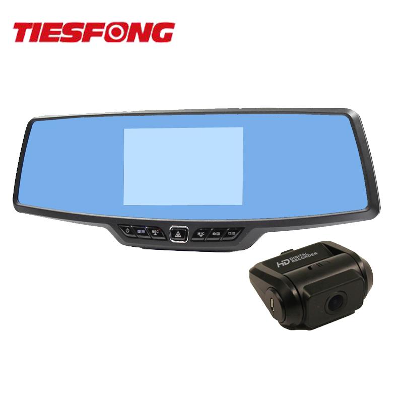 Tiesfong C30 Dual Lens Car DVR Rearview Mirror Camera Novatek 96655 Full HD 1080P 170 Degree 4.3 Inch TFT + 720P Rear Dash Cam(China (Mainland))