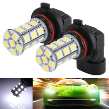 2Pcs Xenon White Car 9006 HB4 Fog DRL Driving 24 SMD LED 6000K 5050 Lights Bulbs Lamp MA346