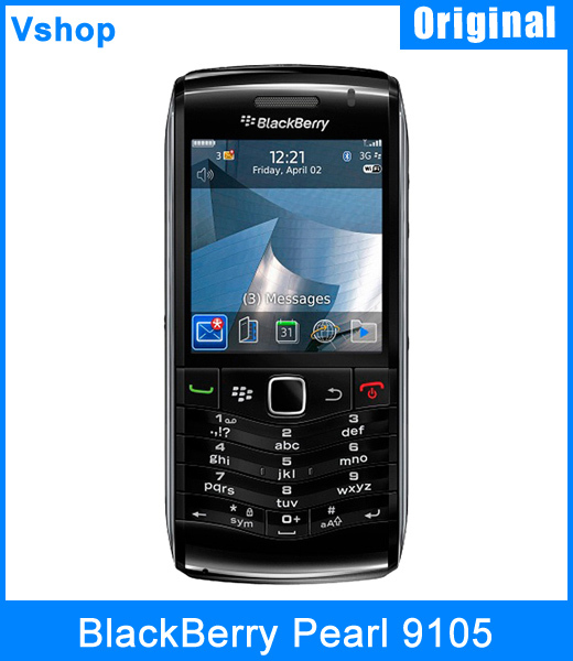 9105 Unlocked Original Blackberry Pearl 9105 Mobile Cell Phone 360x400 pixels Touch QWERTY Keyboard 3G WIFI GPS Bluetooth 3.2MP(China (Mainland))