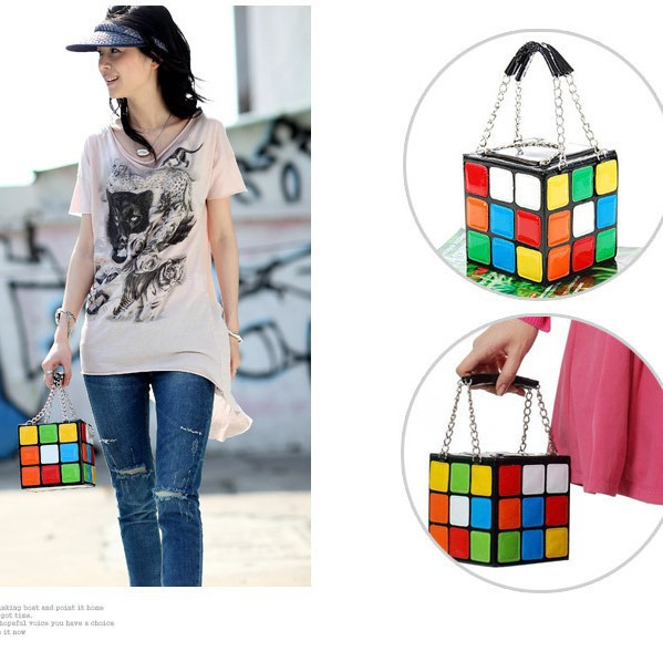 New Handbag Purse Gift,Girl Women's Cute Magic Cube Bag Hot Products Q3004(China (Mainland))