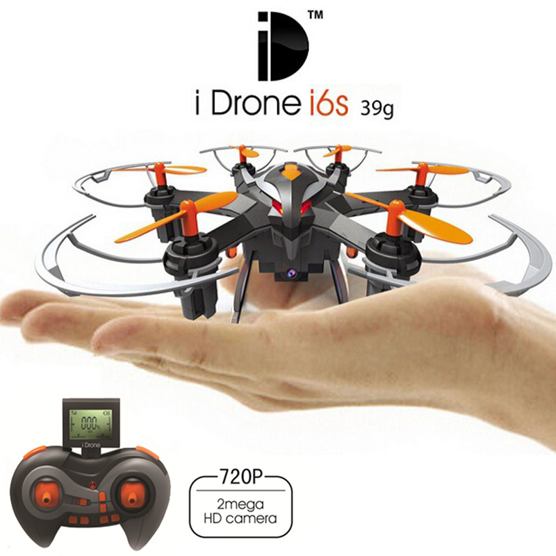 Newest 2MP Mini Drones With HD Camera Yizhan I6s 2.4G 4CH 6 axis Headless Hovering Rc Helicopter Camera Nano Dron Vs Hubsan 107c