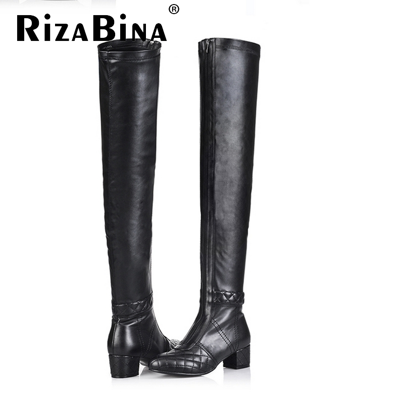 Free shipping over knee natural real genuine leather high heel boots women snow long warm shoes R4912 EUR size 33-43(China (Mainland))