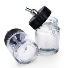 5 pcs Starhealth Brand 22cc Airbrush Glass Bottle Jar Standard Suction Lid pump Spray Top 1 pcs Free Shipping (China (Mainland))