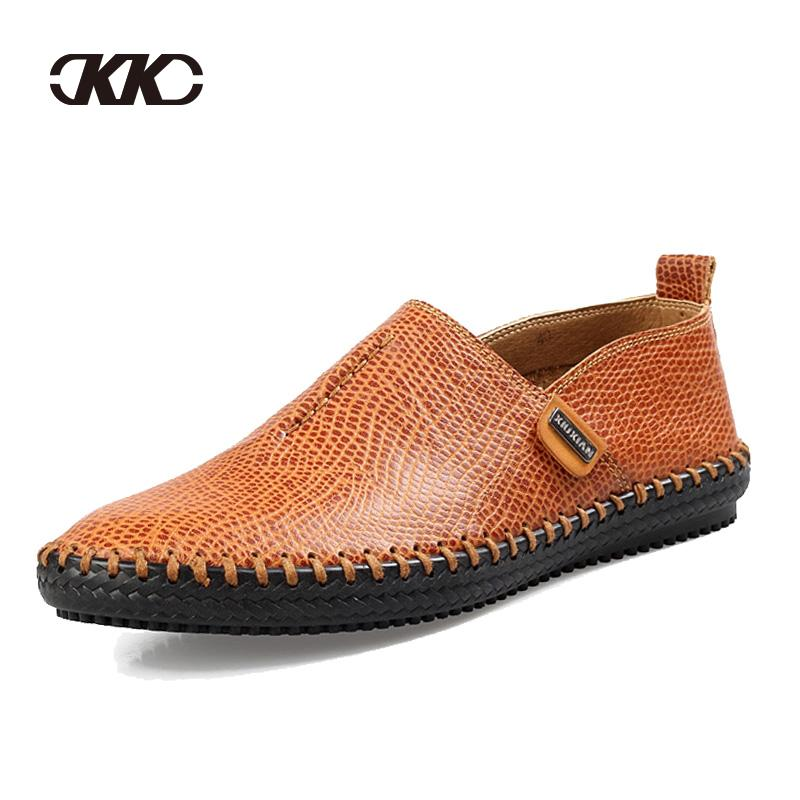 2016 new best quality genuine leather flats casual