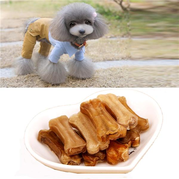 Wholesale Price 2015 Natrual 10Pcs/lot Chews Snack Food Treats Dogs Bones For Pet Dog Supplies