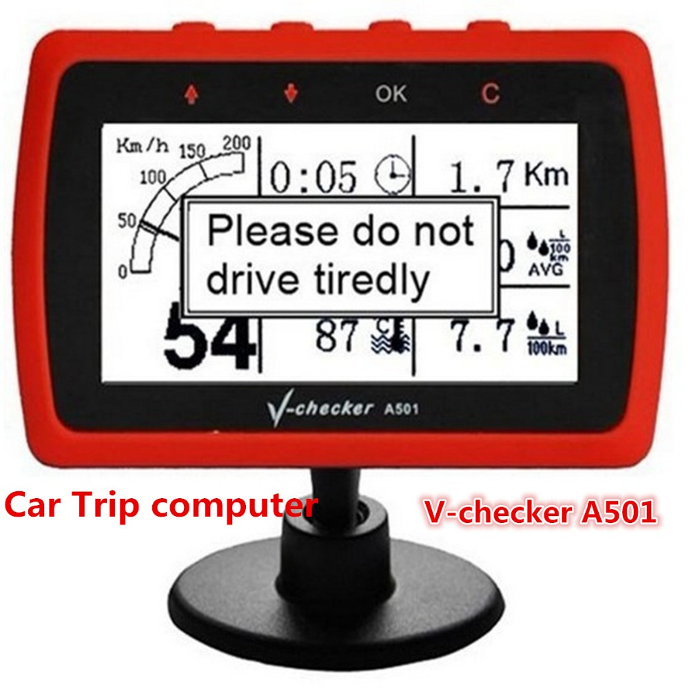 2016 Universal Auto Car Trip computer V-checker A501 diagnostic tool with OBD2 Cable,clear car fault code,show all informations(China (Mainland))