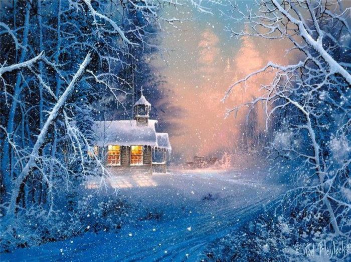Diy алмаз живопись вышивки крестом дома 3d алмазная мозаика ремесла рукоделие 3d круглый полный алмазов вышивка зимний пейзаж снег(China (Mainland))