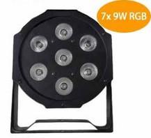 2015 7x 9W RGB DMX Stage Lights Business Lights Led Flat Par High Power Light with Professional for Party KTV Disco DJ EU(China (Mainland))