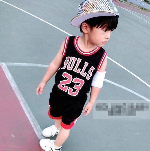 Лето дети одежда мальчики комплект спорт костюмы корова баскетбол 23 жилет + шорты брюки костюмы дети одежда
