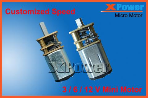 Wholesale 2 pcs N20 25-1000rpm 200rpm 12V Mini Motor 6V 3V Micro Motor Monitoring Equipment+Robot Motor Door Lock 12V Gear Motor(China (Mainland))