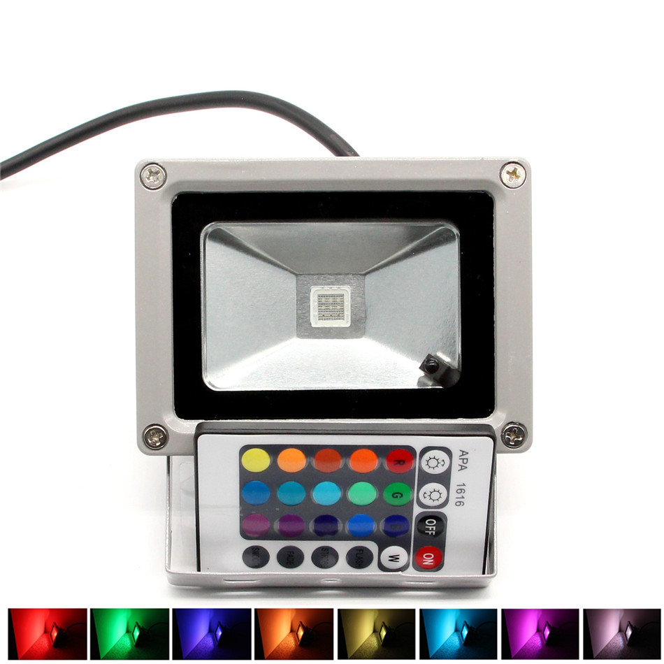 RGB LED Flood Light 10W 20W 30W 50W Foco LED Exterior Spotlight IP65 LED Outdoor Light Reflector Spot Floodlight Remote Control<br><br>Aliexpress
