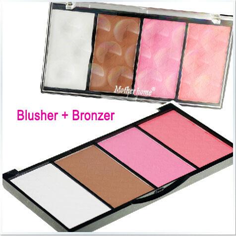 NEW 2014 Mother home urban brand makeup blush flushed blusher Bronzer &Highlighter &Blush 4 colors free shipping(China (Mainland))