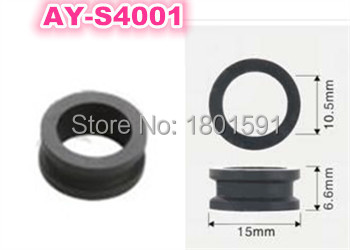 500pieces top quality fuel injector o-ring rubber seal 15*10.5*6.6mm for mitsubishi car AY-S4001