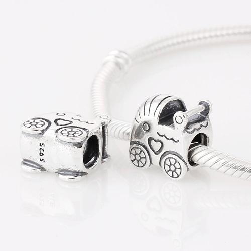 Подходит пандора браслет аутентичные стерлингового серебра 925 бусины резьбовое отверстие ребенок корзина шаблон европейский шарм женщин DIY ювелирных изделий
