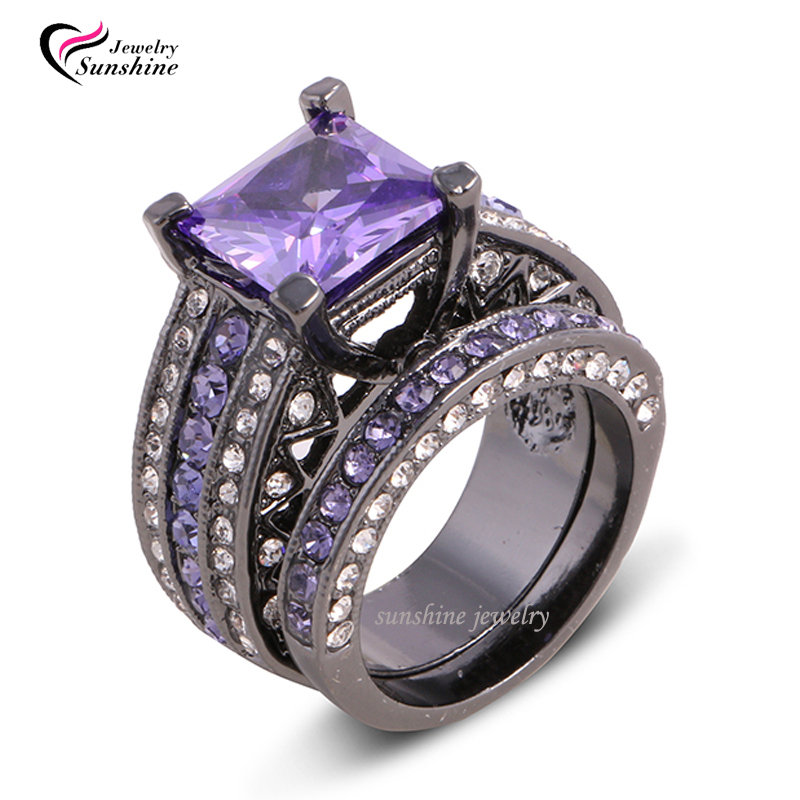 purple and black ring aliexpresscom buy size black in italy wedding - Purple Wedding Ring