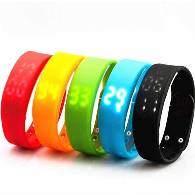 W2 USB Wrist Band Watch Support Time display Calorie burn recorder 3D effect Pedometer Watch Sleep Monitor Smart watchband(China (Mainland))