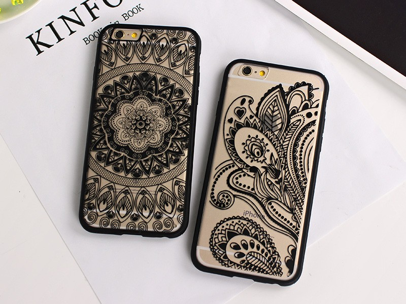 Retro Vintage Print Pattern Henna Floral Paisley Mandala Palace Flower soft Phone Case Cover For iPhone 5S 6 6G 6S 6Plus 5.5