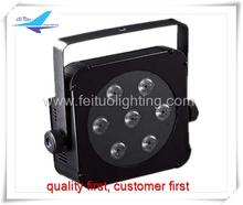 (50pcs/lot) high quality/lower price 7x3watt 3in1 led flat(slim) par light for wedding light free shipping(China (Mainland))