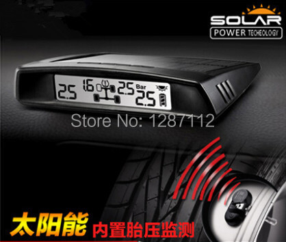 New design free shipping Solar power for display unit T179 TPMS tyre pressure monitoring system for car with 4 internal sensors(China (Mainland))