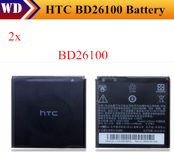 2x Battery BD26100 for HTC Rechargeable Accessories For Original HTC HD Desire A9191 G10 7 Surround T8788 Inspire 4G A9192(China (Mainland))