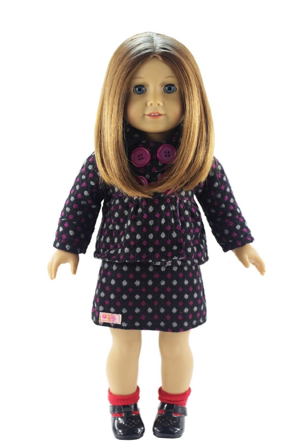 2pcs Woolen Coat+Skirt Dress Suit Outfit Doll Clothes for 18'' American Girl(China (Mainland))
