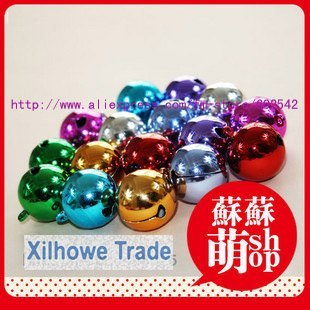 wholesale, free shipping, christmas  smoothing small colorful bell,  9 colors, diameter:2cm(0.8 in)