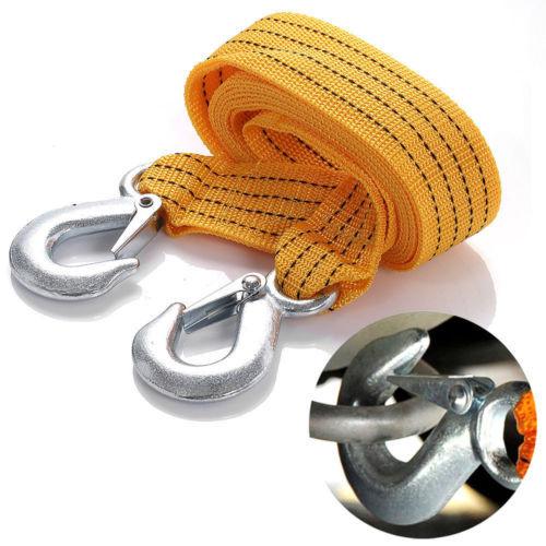 1 X 3 м 3 тонн тележки буксировочный кабель буксировка ремень веревка с крючками восстановления дорожного аварийного строка