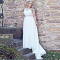 2017 Cheap Plus Size Wedding Dress Chiffon Bridal Dresses Floor Length Wedding Dresses Lace Up vestido